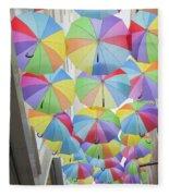 Under Umbrellas Fleece Blanket