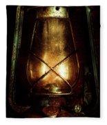 Underground Mining Lamp  Fleece Blanket