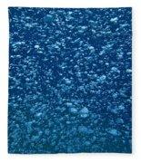 Underwater Bubbles Fleece Blanket