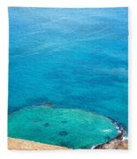 Underwater Crater In Galapagos Fleece Blanket