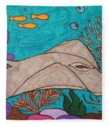 Underwater Stingray Fleece Blanket