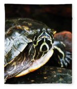 Underwater Turtle Fleece Blanket