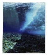 Underwater Wave - Yap Fleece Blanket
