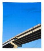 Unfinished Freeway Ramp Fleece Blanket