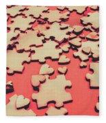 Unfinished Hearts Fleece Blanket