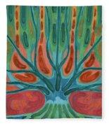 Unfinished Tree Fleece Blanket