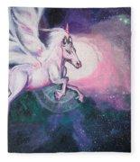 Unicorn And The Universe Fleece Blanket