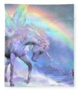 Unicorn Of The Rainbow Fleece Blanket
