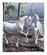 Unicorn Reunion Fleece Blanket