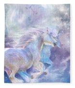 Unicorn Soulmates Fleece Blanket