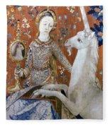 Unicorn Tapestry, 15th C Fleece Blanket