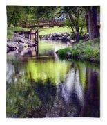 Unicorn Walk-bridge Fleece Blanket