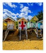 Union Jack Beach Hut 2 Fleece Blanket