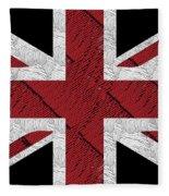 Union Jack Flag Deco Swing Fleece Blanket