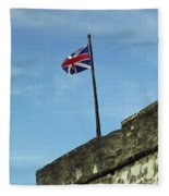 Union Jack Over The Castillo Fleece Blanket