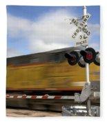 Union Pacific Coal Train Fleece Blanket