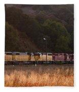 Union Pacific Locomotive Trains . 7d10551 Fleece Blanket