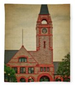 Union Pacific Railroad Depot Cheyenne Wyoming 01 Textured Fleece Blanket