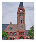 Union Pacific Railroad Depot Cheyenne Wyoming 01 Fleece Blanket