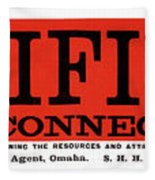 Union Pacific Railroad Signage 1883 Fleece Blanket