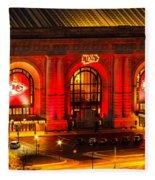 Union Station In Chiefs Red Fleece Blanket