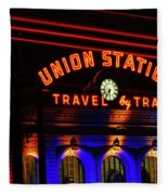 Union Station Lights Fleece Blanket