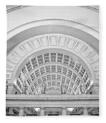 Union Station Washington Dc Fleece Blanket