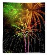 Unique Fireworks Fleece Blanket