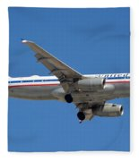 United Airlines Airbus A320 Friend Ship N475ua Sky Harbor March 24 2015 Fleece Blanket