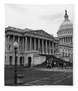 United States Capitol Building 2 Bw Fleece Blanket