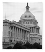 United States Capitol Building 4 Bw Fleece Blanket