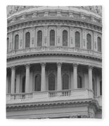 United States Capitol Building Bw Fleece Blanket
