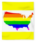 United States Gay Pride Flag Fleece Blanket