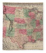 United States Of America Fleece Blanket
