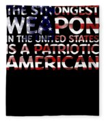 United States Patriotic American Fleece Blanket