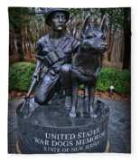 United States War Dog Memorial Fleece Blanket