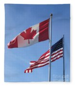 United We Stand Divided We Fall Fleece Blanket