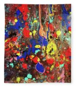 Universe Spaces Splash Fleece Blanket