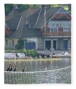 University Barge Club - Philadelphia  Fleece Blanket