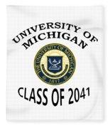 University Of Michigan Class Of 2041 Fleece Blanket