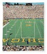 University Of Michigan Stadium, Ann Fleece Blanket