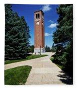 University Of Northern Iowa Bell Tower Fleece Blanket