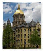 University Of Notre Dame Main Building 1879 Fleece Blanket