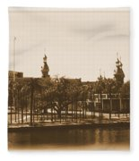 University Of Tampa - Old Postcard Framing Fleece Blanket