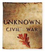 Unknown Civil War Fleece Blanket