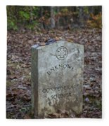Unknown Confederate Soldier - Natchez Trace Fleece Blanket