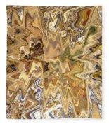Unknown Paths Abstract Art Fleece Blanket