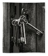 Unlocked - Keys And Opened Door Fleece Blanket