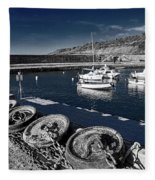 Unplugged At The Harbour - Toned Fleece Blanket