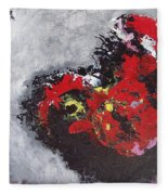 Unread Poem Black And Red Paintings Fleece Blanket